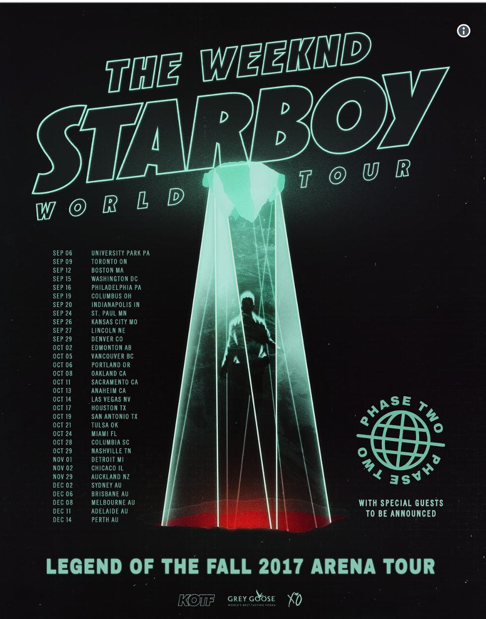 Starboy World Tour Las Vegas